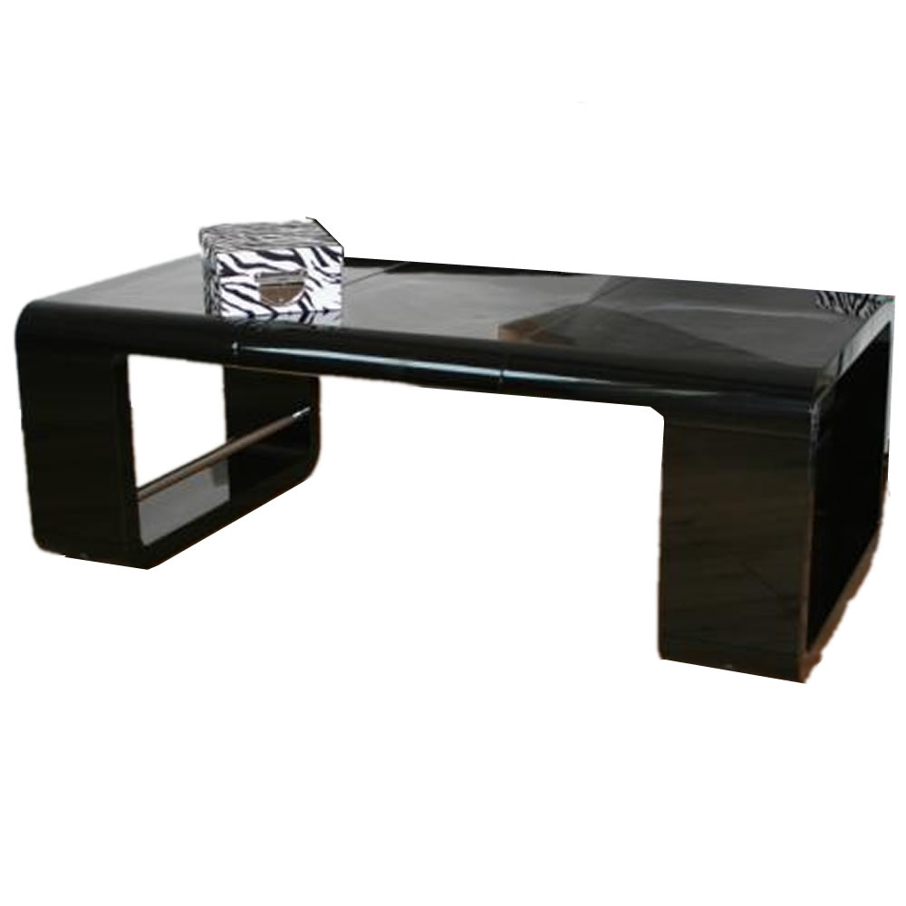 Table basse noir - Table basse en verre trempe noir ...
