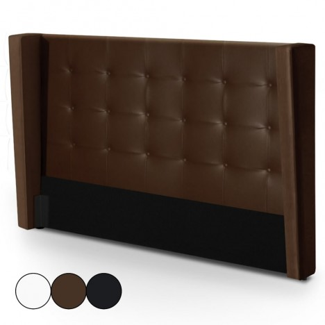 t te de lit capitonn e 140 cm blanche marron ou noire rabatos decome store. Black Bedroom Furniture Sets. Home Design Ideas