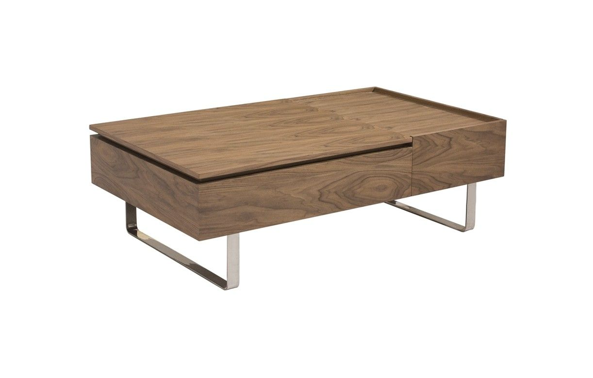 Table basse salon bois avec tiroir - Table basse rehaussable ...
