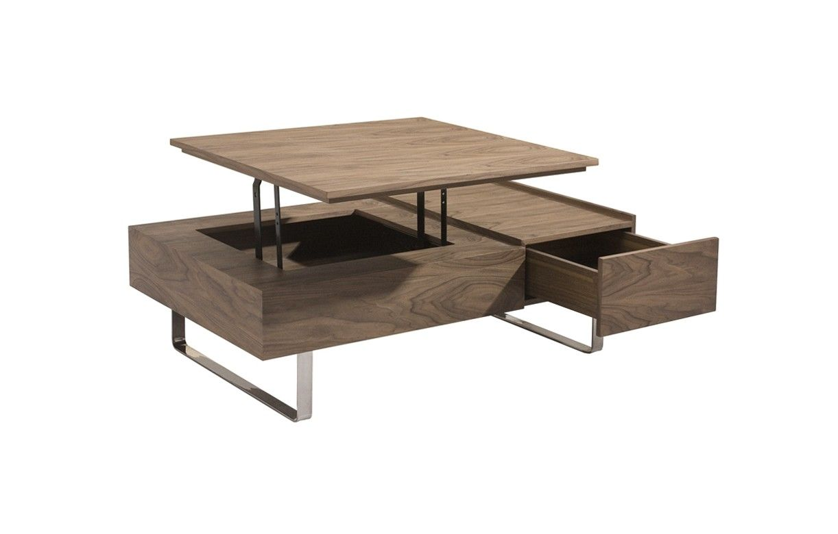 Table basse bois noyer for Table basse bois