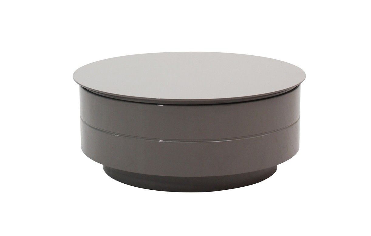 Table basse coffre grise for Table basse noir et blanc pas cher