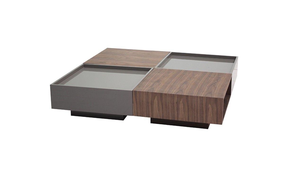 Table basse laquee avec rangement for Table basse design avec rangement