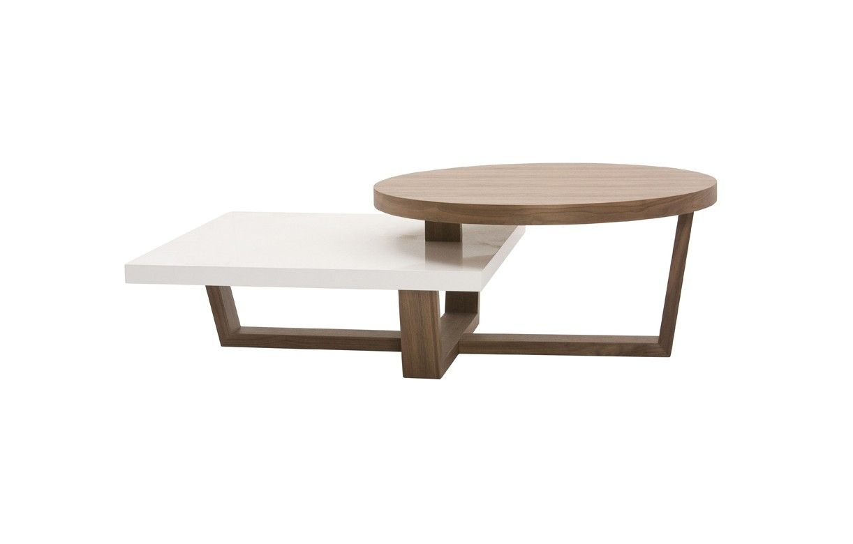 Table basse bois noyer for Table en bois