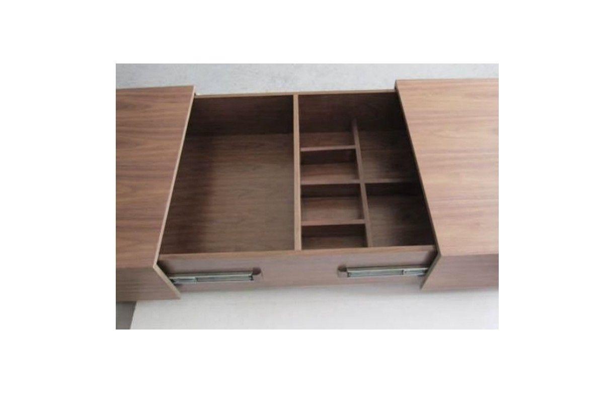Table basse design avec rangement coffre coulissant fanly - Table enfant avec rangement ...