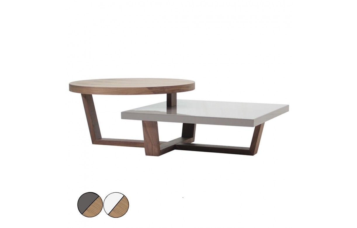 Table basse en bois gris - Table basse blanc gris ...