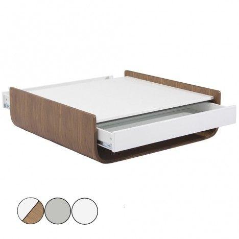 Table basse design avec 2 tiroirs et niche de rangement - Table basse avec rangement ...