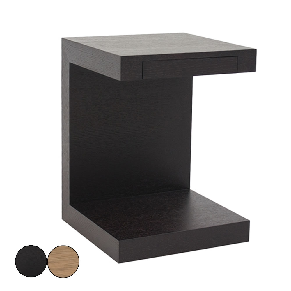 Table de chevet noir et blanc table de nuit chevet laqu - Table de chevet noire ...