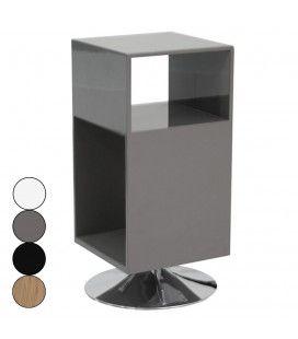 Table de chevet design avec rangements et pied métal Fridy - 4 coloris