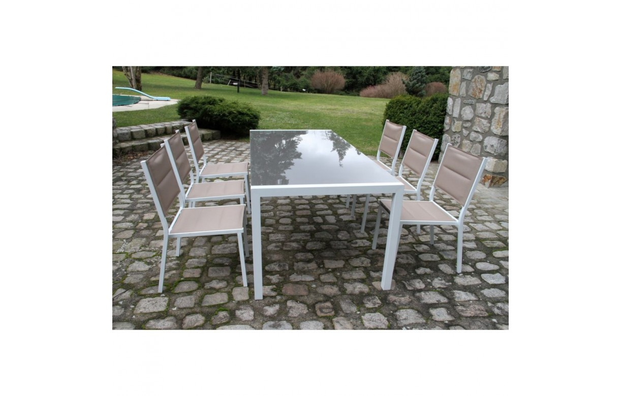 Ensemble table et chaises de jardin ensemble salon de - Table et chaise de jardin grosfillex ...