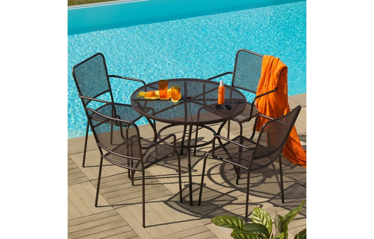 best table de jardin ronde avec trou pour parasol ideas. Black Bedroom Furniture Sets. Home Design Ideas