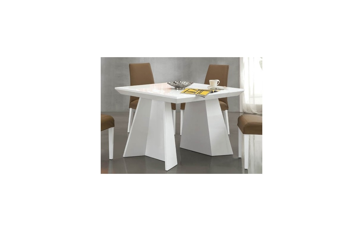 Table console extensible design 220cm noire ou blanche for Table blanche extensible