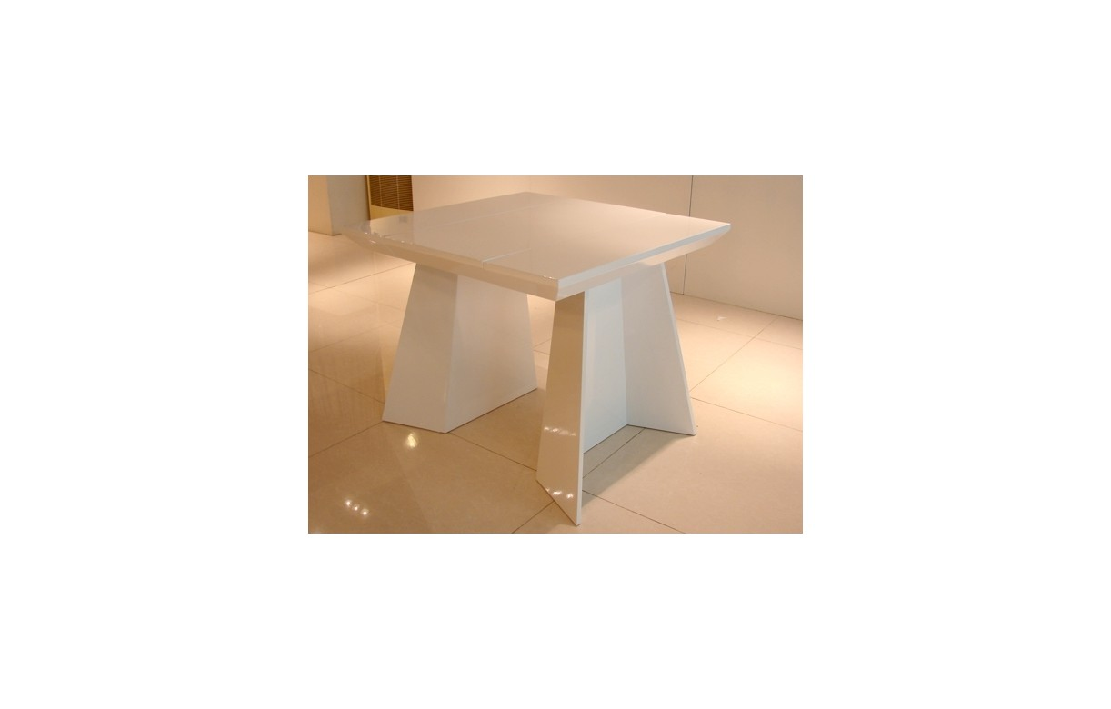 Table console extensible design 220cm noire ou blanche for Table de salle a manger 220 cm