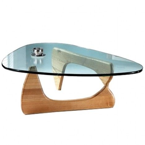 Table basse design en verre et bois boomy decome store Design interieur table basse en bois