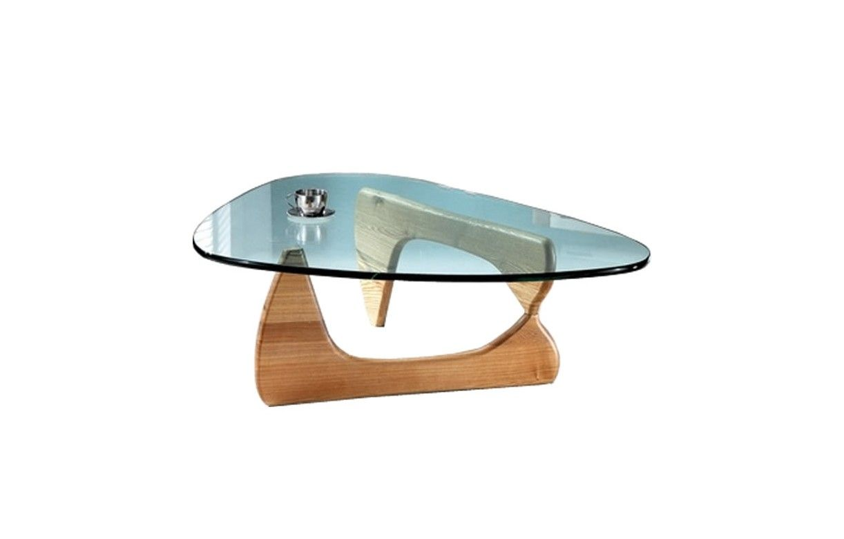 Table basse en verre et bois Table en verre design