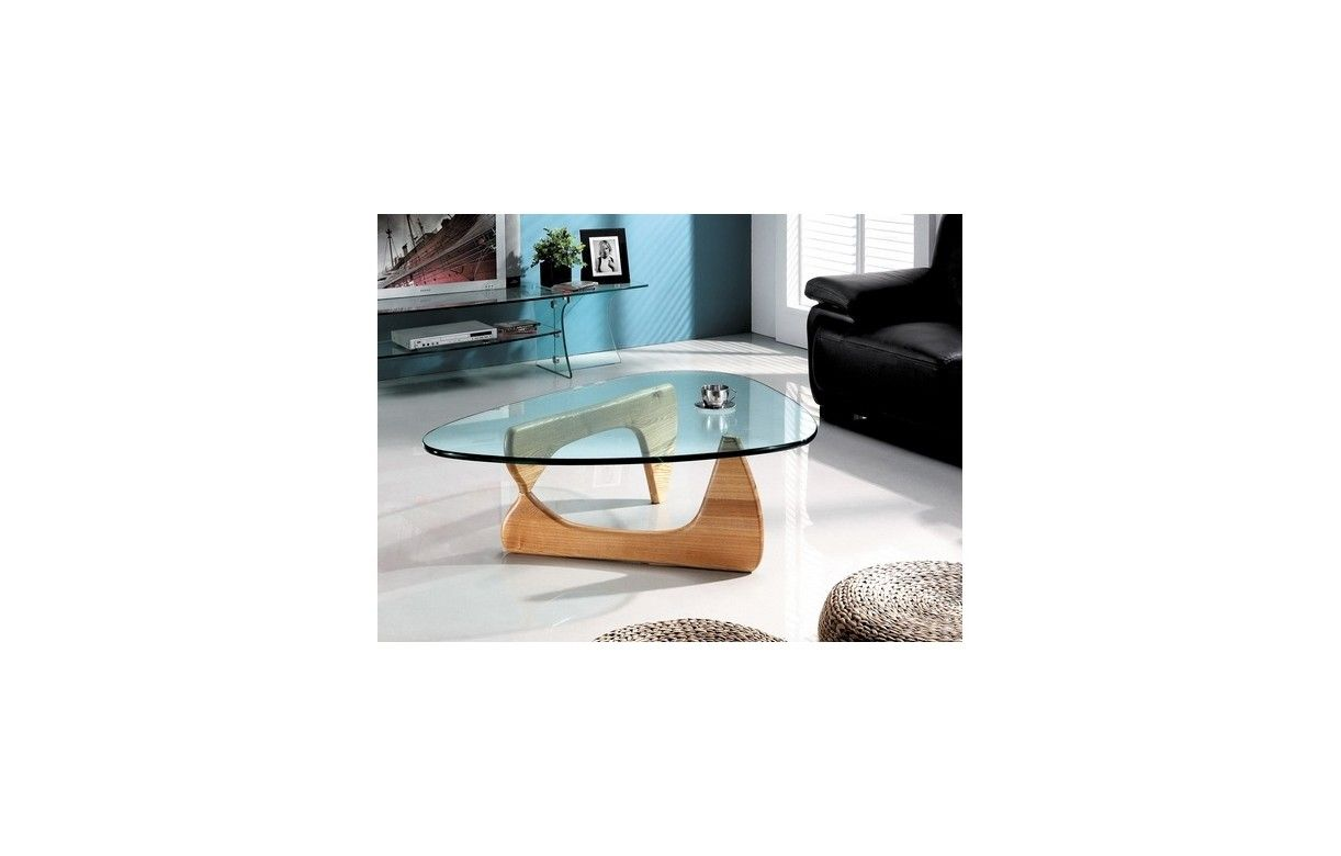 Table basse design verre et bois Table en verre design