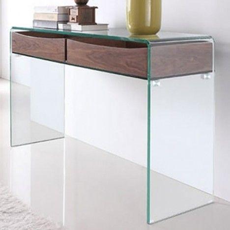 console design en verre et bois glasswoody decome store. Black Bedroom Furniture Sets. Home Design Ideas