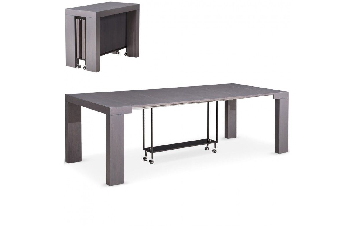 Table console extensible 12 places castilla 4 coloris - Table console extensible personnes ...