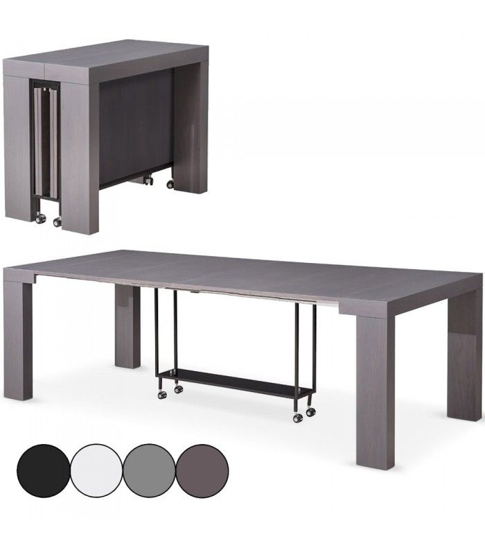 Table console extensible 12 places castilla 4 coloris decome store - Console extensible solde ...