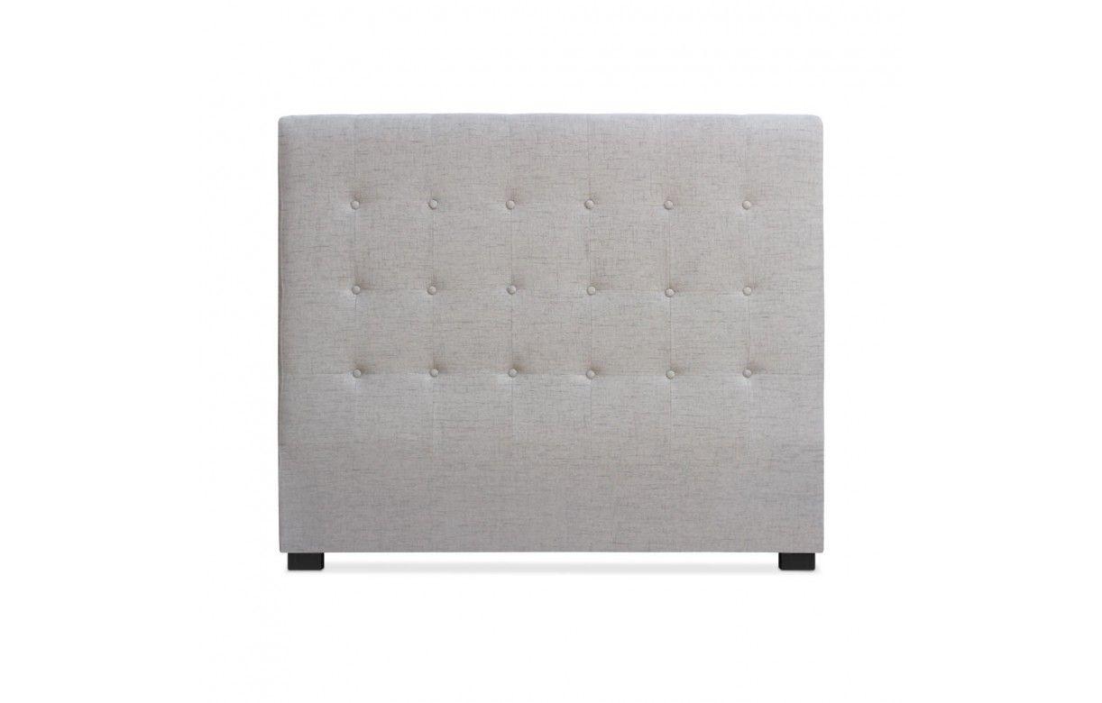 t te de lit 140cm en tissu grise taupe ou beige luxy. Black Bedroom Furniture Sets. Home Design Ideas