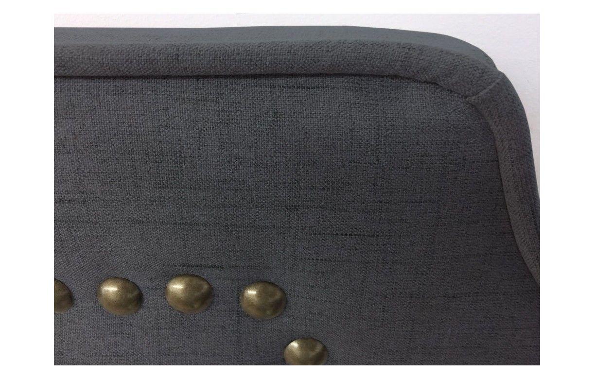 T te de lit en tissu 160cm en tissu beige taupe ou gris milany decome store - Tete de lit tissu gris ...