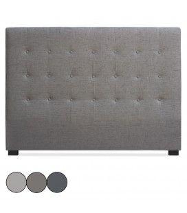 Tête de lit 160cm en tissu taupe beige ou gris Luxy