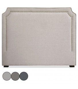 Tête de lit en tissu 140cm en tissu gris taupe ou beige Milany