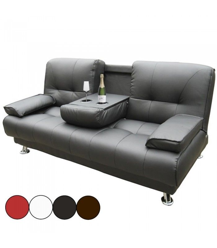 canap 3 places convertible avec accoudoir central bar canby 4 coloris decome store. Black Bedroom Furniture Sets. Home Design Ideas