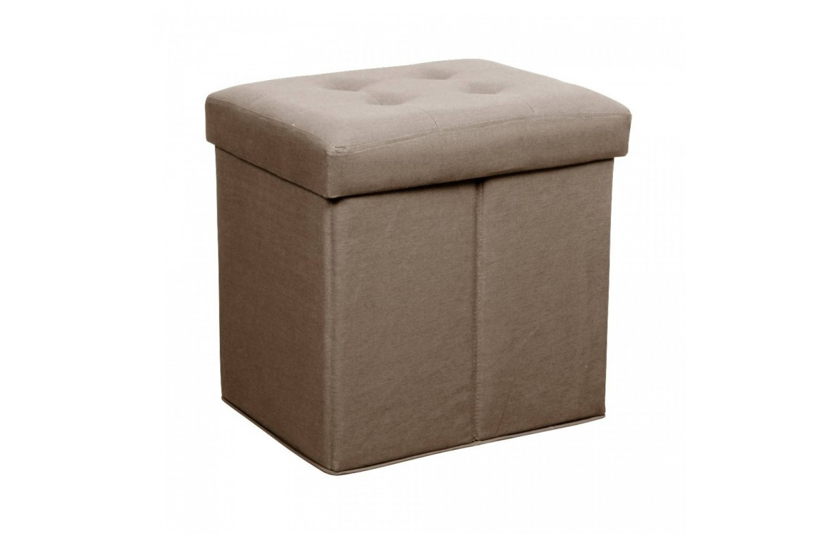 pouf coffre carr pliable en velours ou lin amy 10 coloris decome store. Black Bedroom Furniture Sets. Home Design Ideas