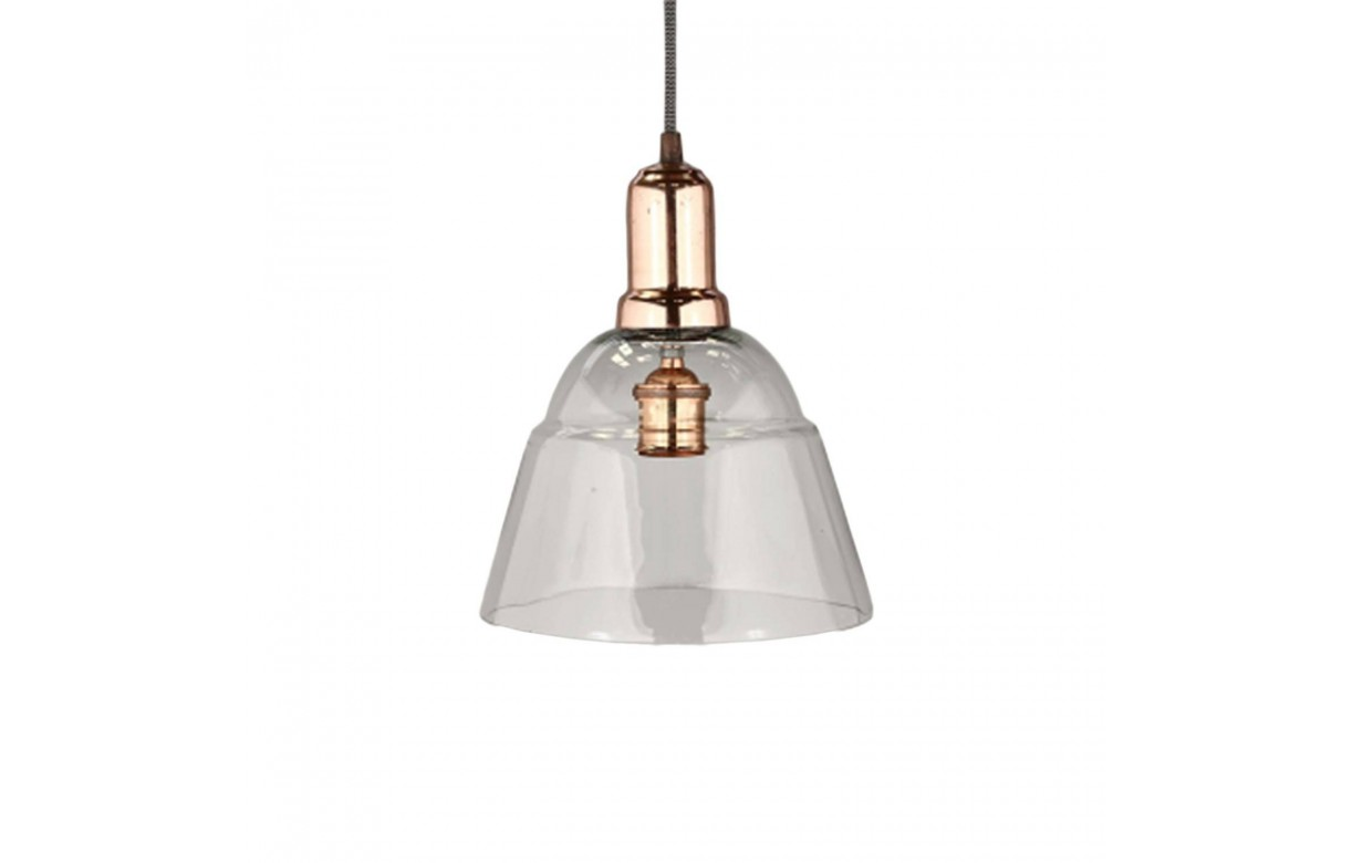 Suspension style industriel en m tal et verre - Suspension type industriel ...