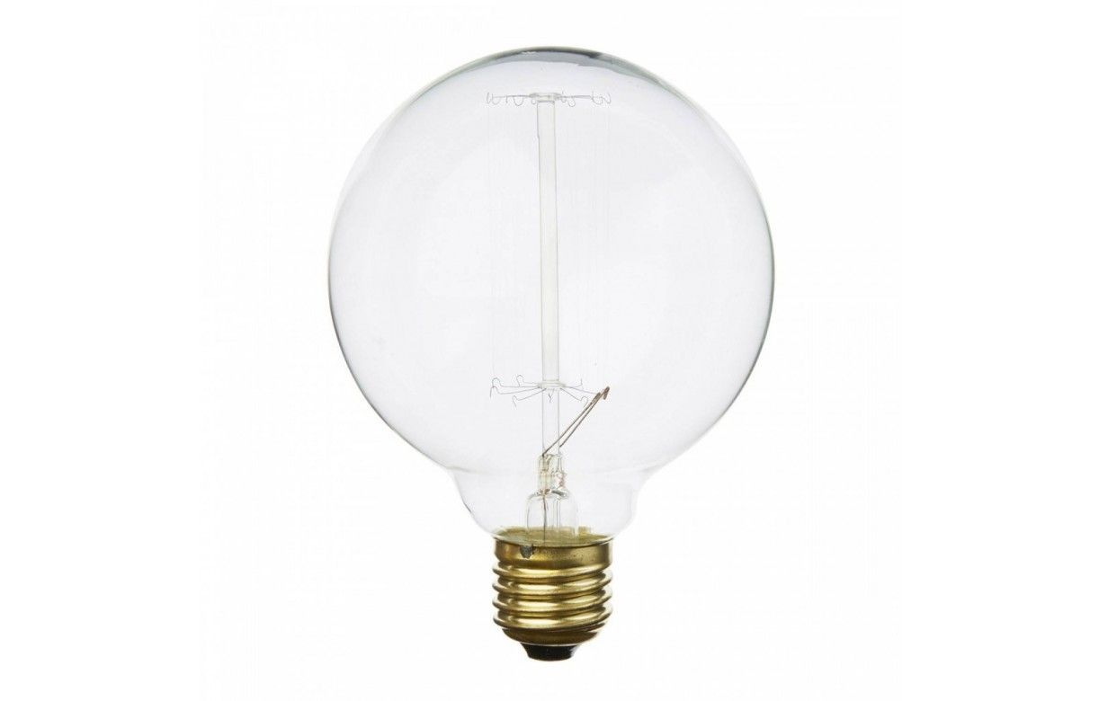 ampoule d corative filament ronde 8cm design e27. Black Bedroom Furniture Sets. Home Design Ideas