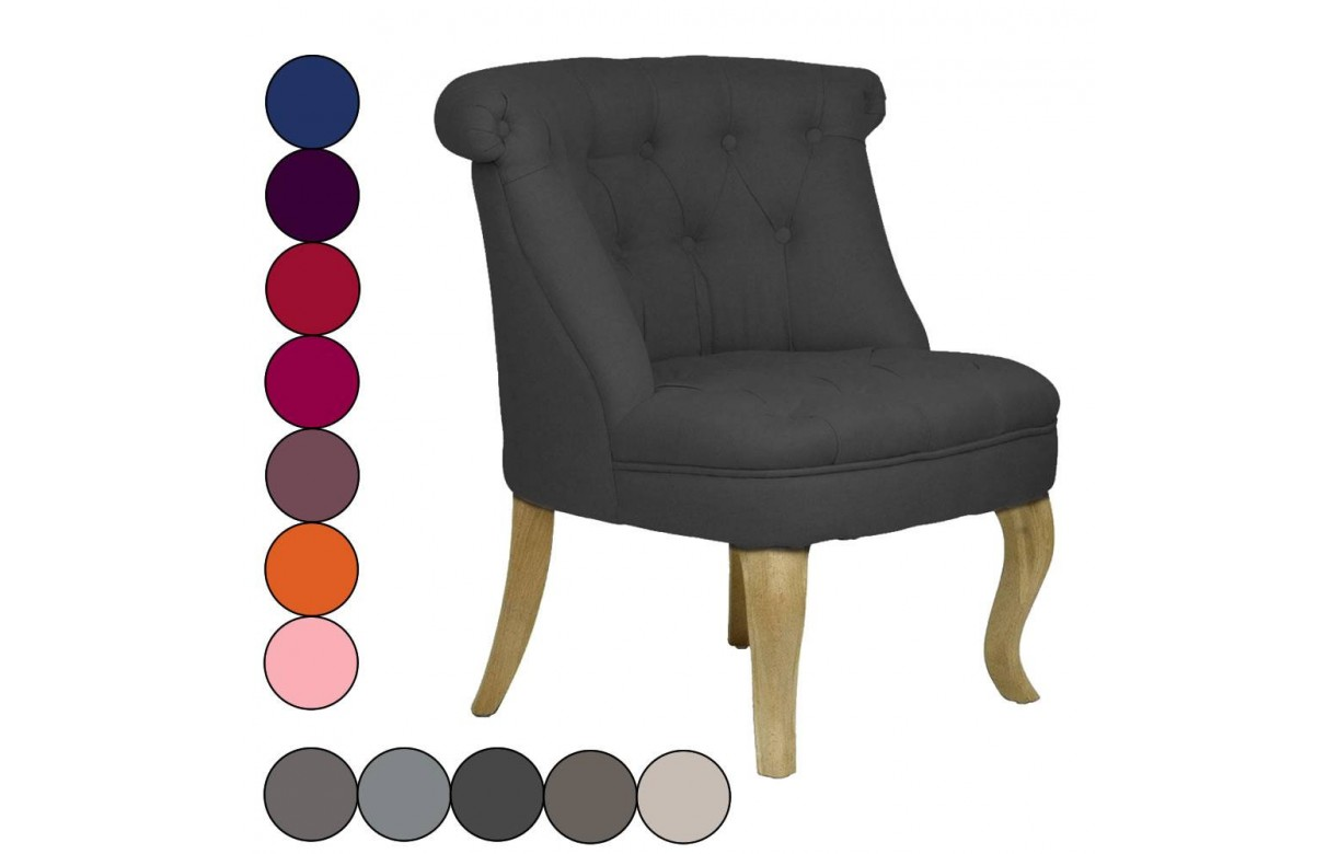 fauteuil crapaud design capitonn en lin ou velours triany. Black Bedroom Furniture Sets. Home Design Ideas