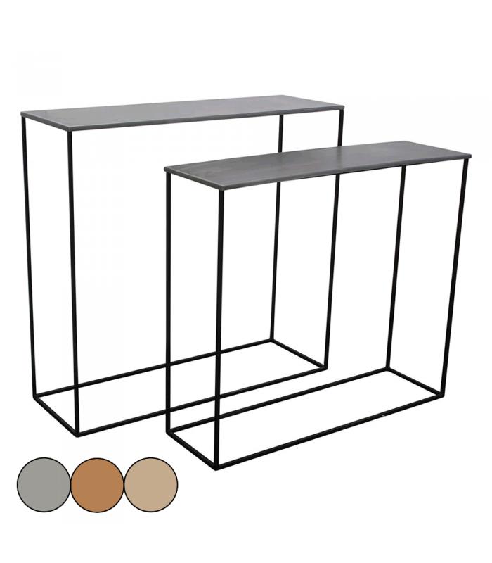 lot de 2 consoles en m tal cuivre laiton ou zinc mily decome store. Black Bedroom Furniture Sets. Home Design Ideas