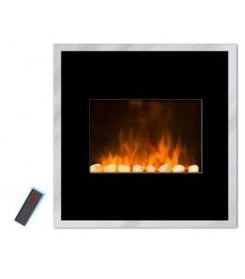 Cheminée électrique radiateur noir imitation feu Black River