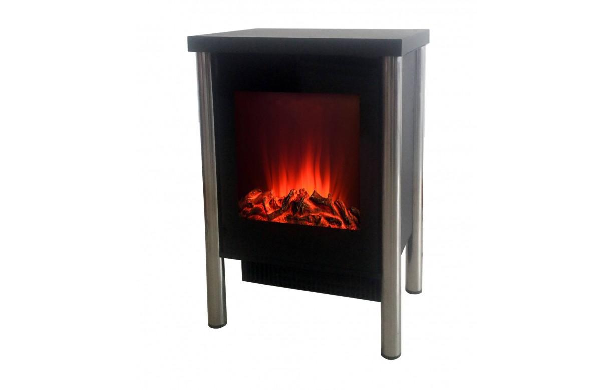 Chauffage électrique foyer de cheminée inox   chemin'arte