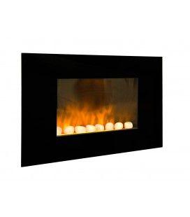 Chauffage électrique foyer de cheminée inox Fire Steel