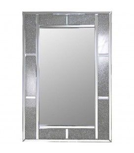 Miroir design à cadre large brillant Stella
