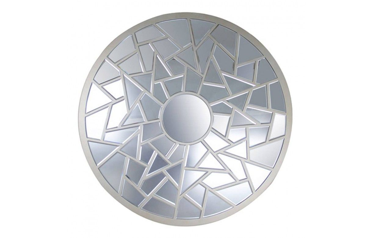 Miroir d coratif rond facettes for Miroirs decoratifs
