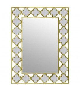 Miroir d coratif avec rosace en rotin 50 cm flory decome for Miroir store