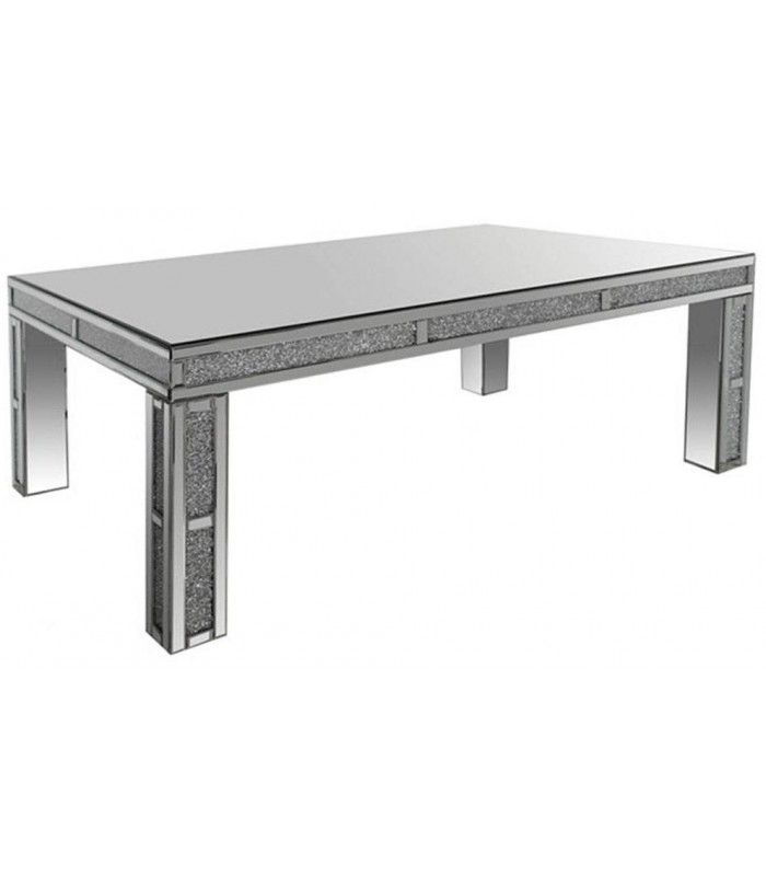 Table basse en verre grande for Grande table design