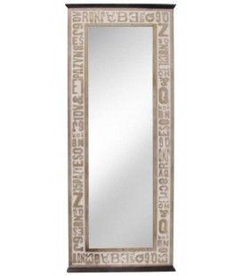 Miroir design en bois patiné Industry