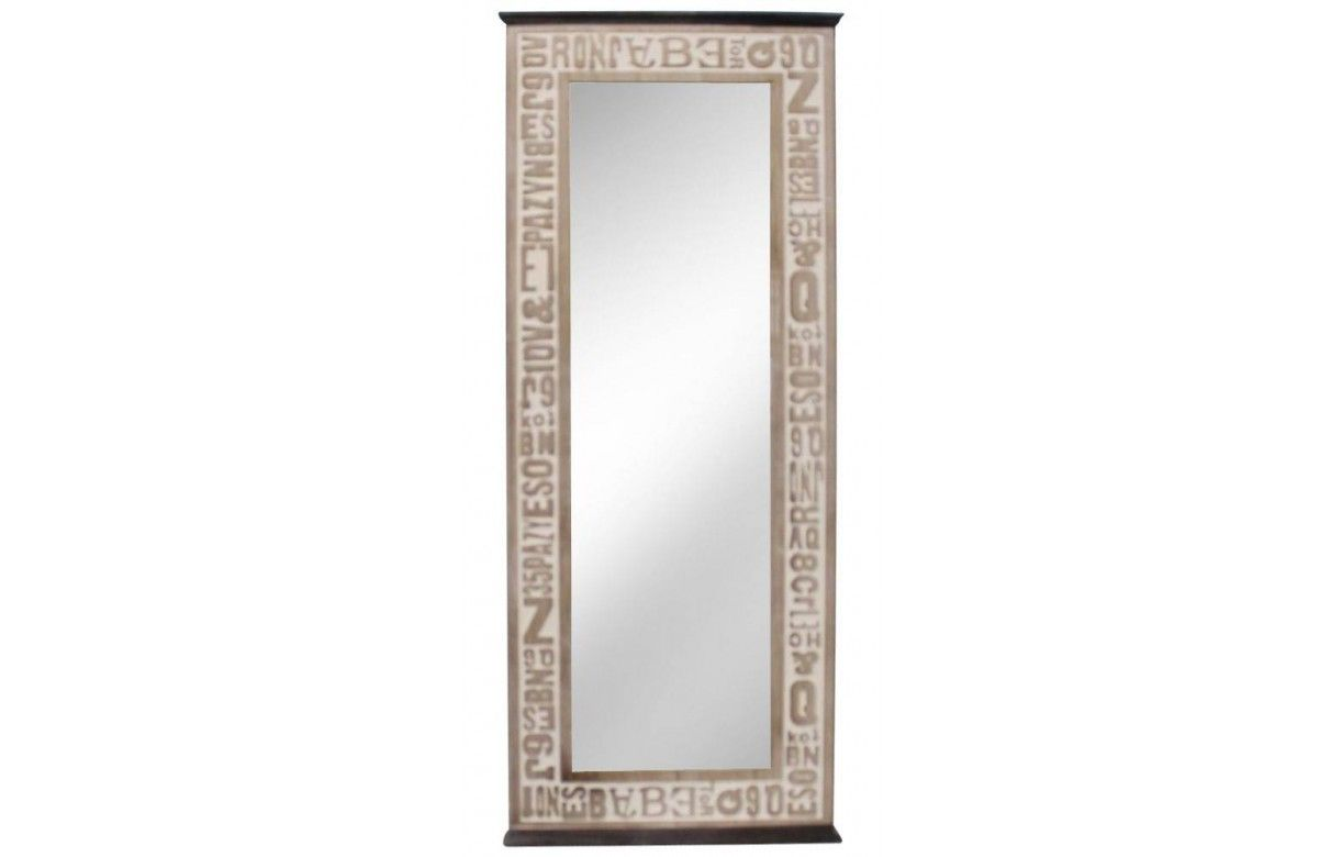 Perfect grand miroir industriel style aviateur aspect for Miroir cargo maison du monde