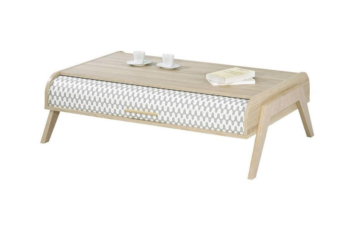 Table basse scandinave avec rangement for Table basse grise scandinave