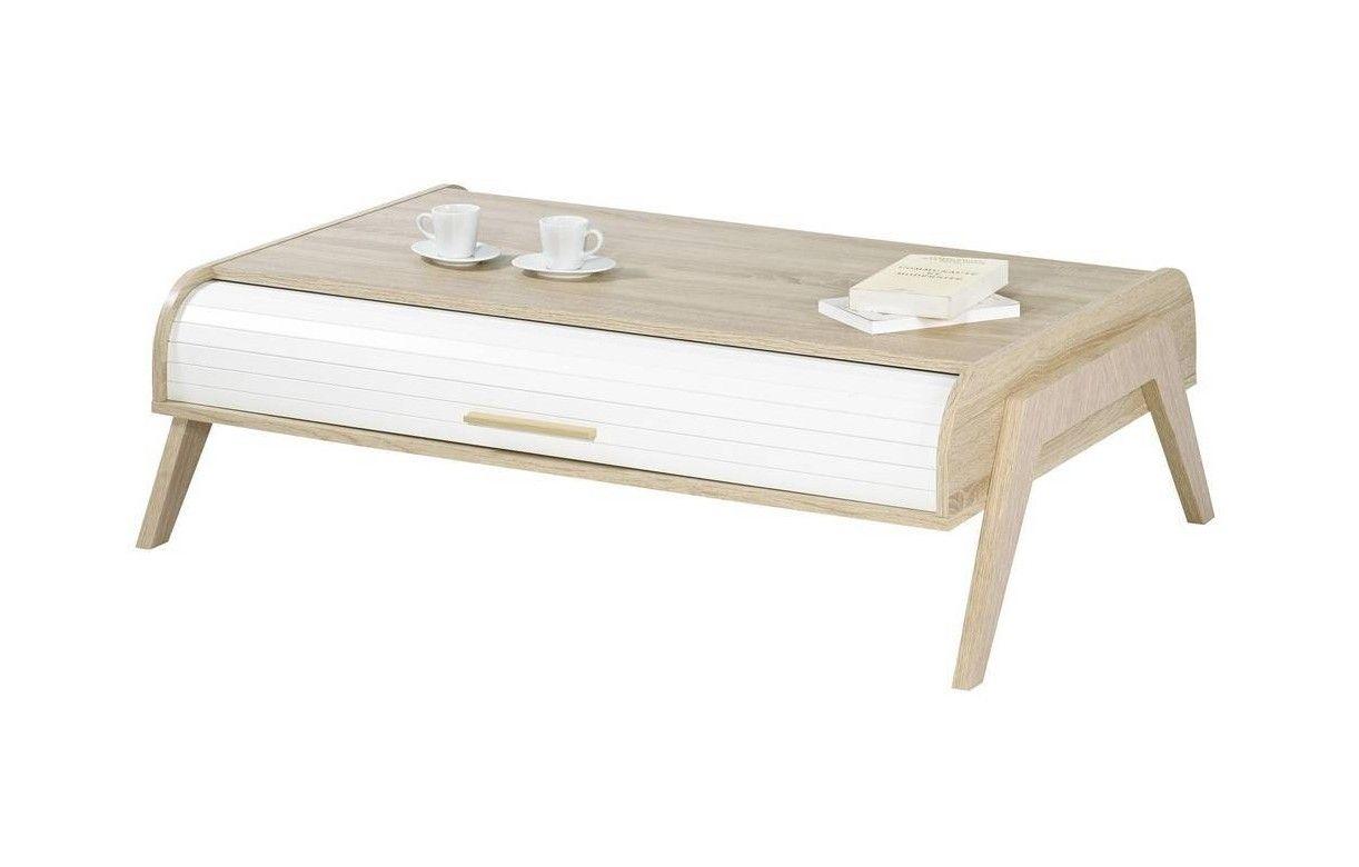 table basse chene clair avec rideaux de rangement blanc vintage. Black Bedroom Furniture Sets. Home Design Ideas
