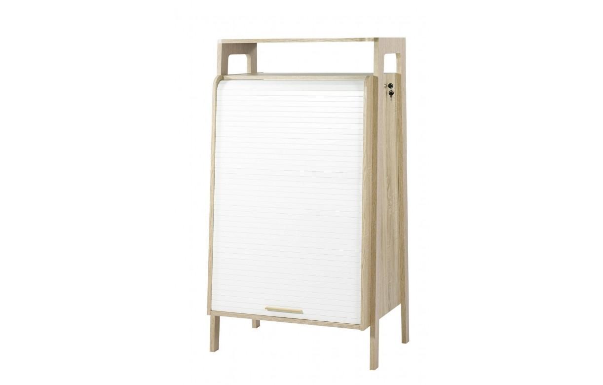 Bureau bois clair for Bureau blanc et bois clair