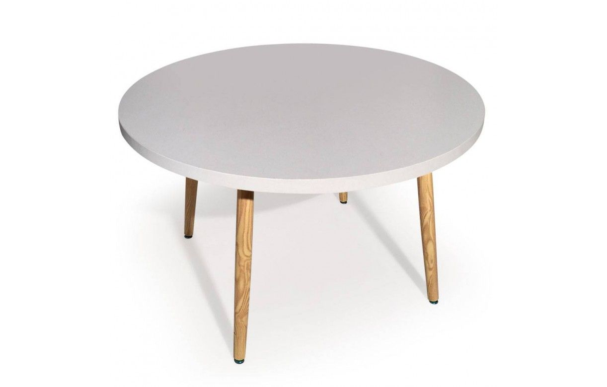 Plateau table bois ovale for Table cuisine bois blanc