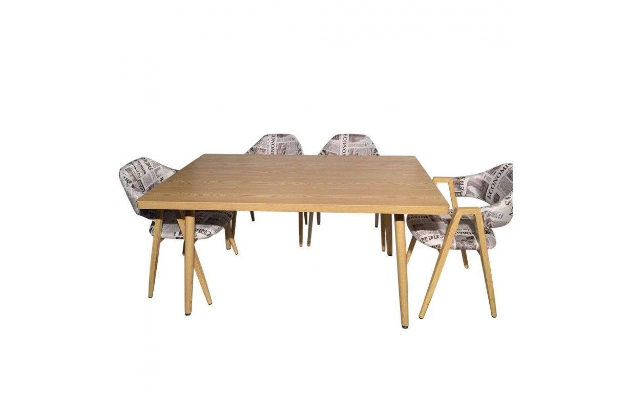 table rectangulaire pas cher design scandinave. Black Bedroom Furniture Sets. Home Design Ideas