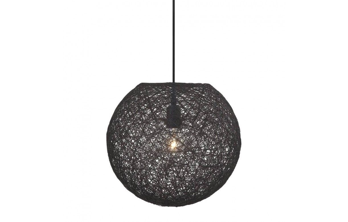 suspension boule noire d34 cm