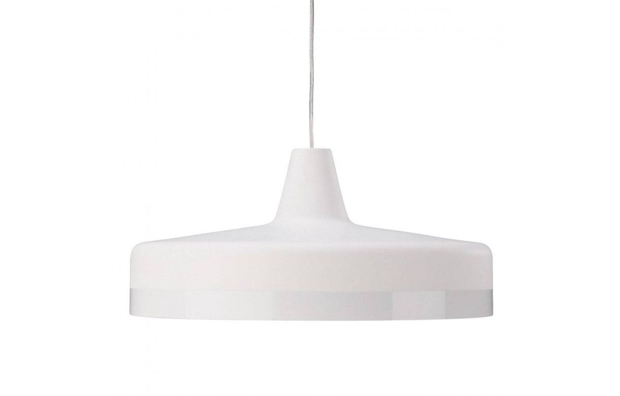 Suspension design plate en m tal blanche ou grise for Suspension blanche design