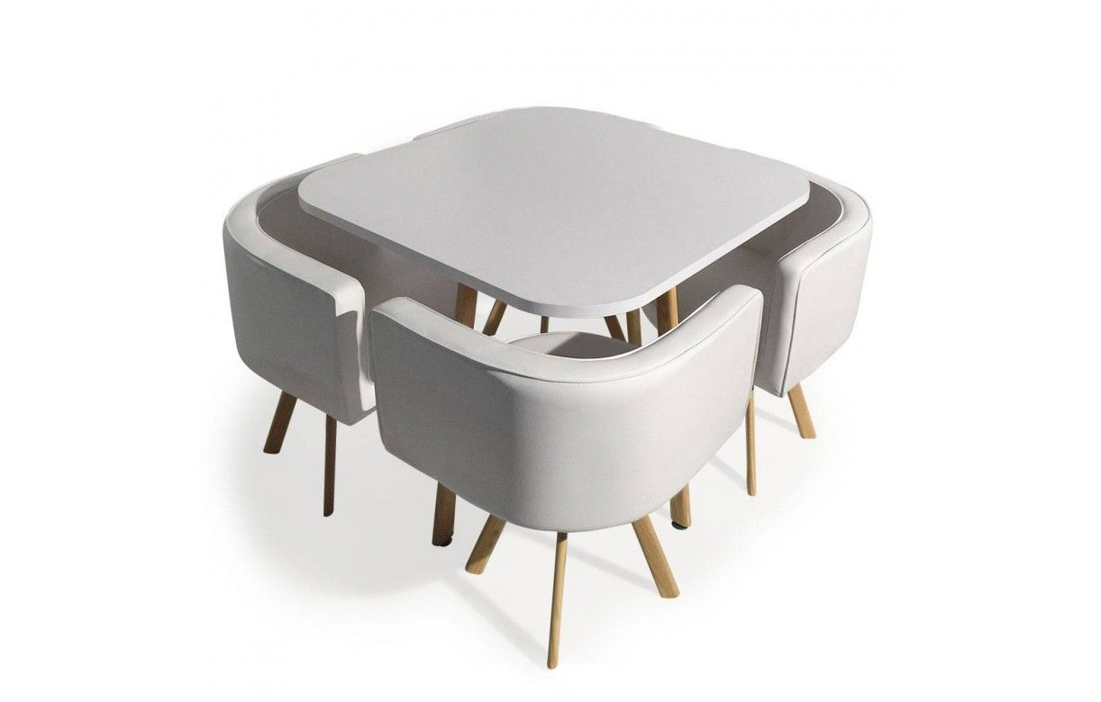 Table avec tabouret encastrable conceptions de maison for Table chaise encastrable