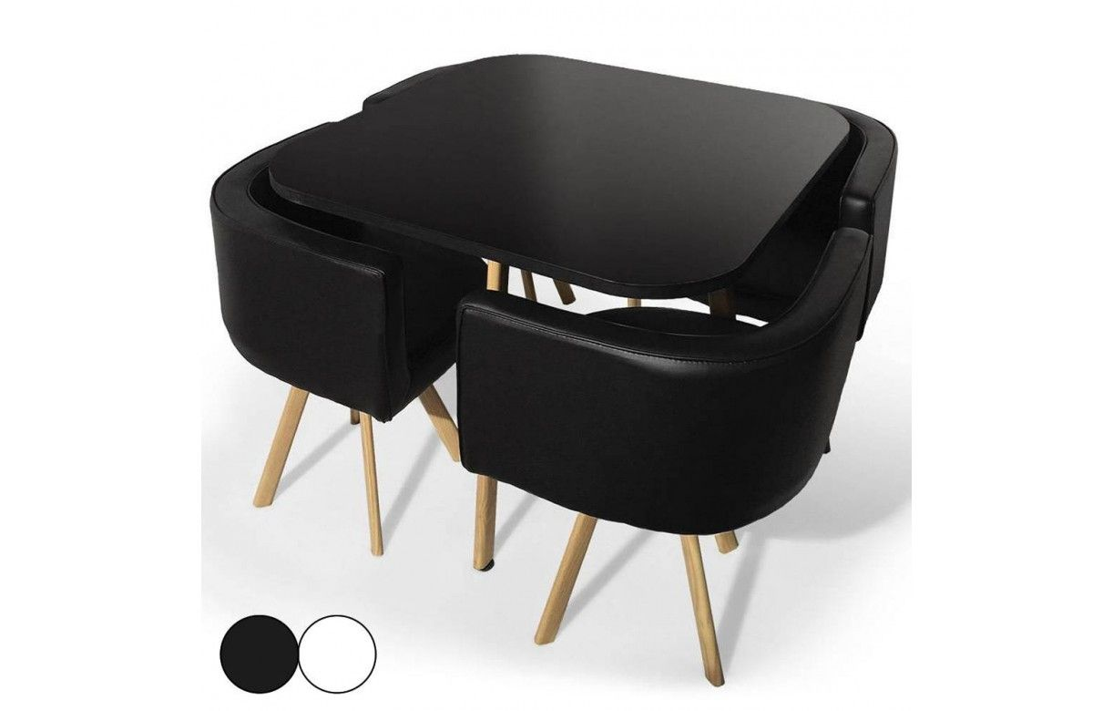 table et chaises encastrables design scandinave. Black Bedroom Furniture Sets. Home Design Ideas